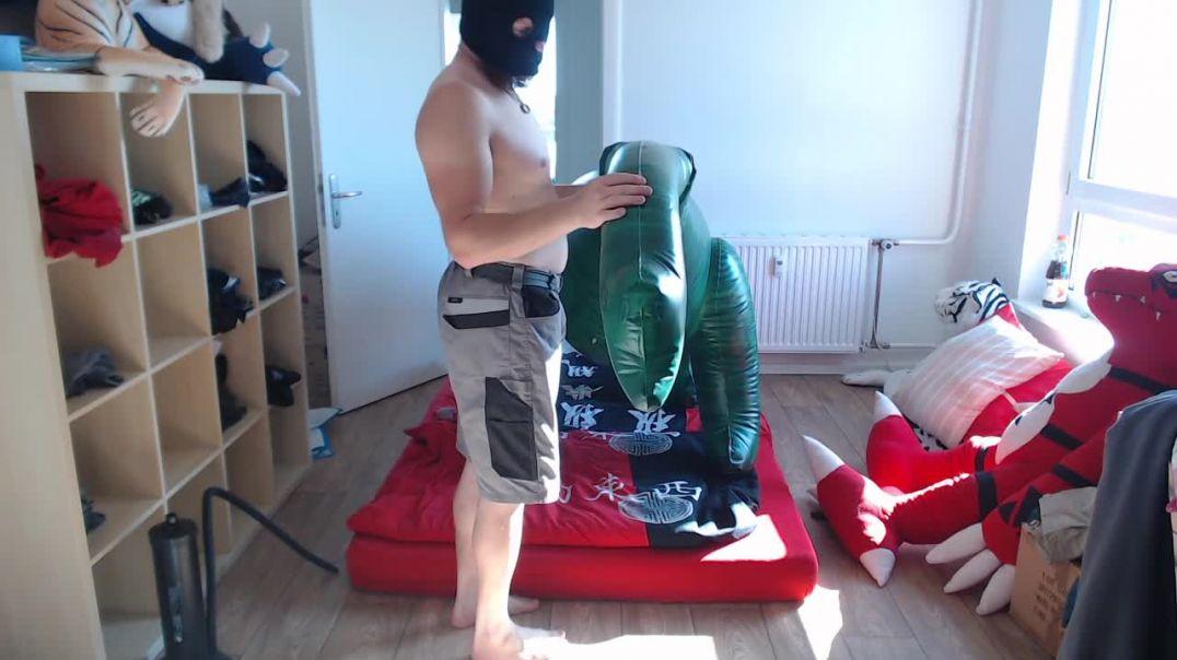 inflatable dinosaur fun