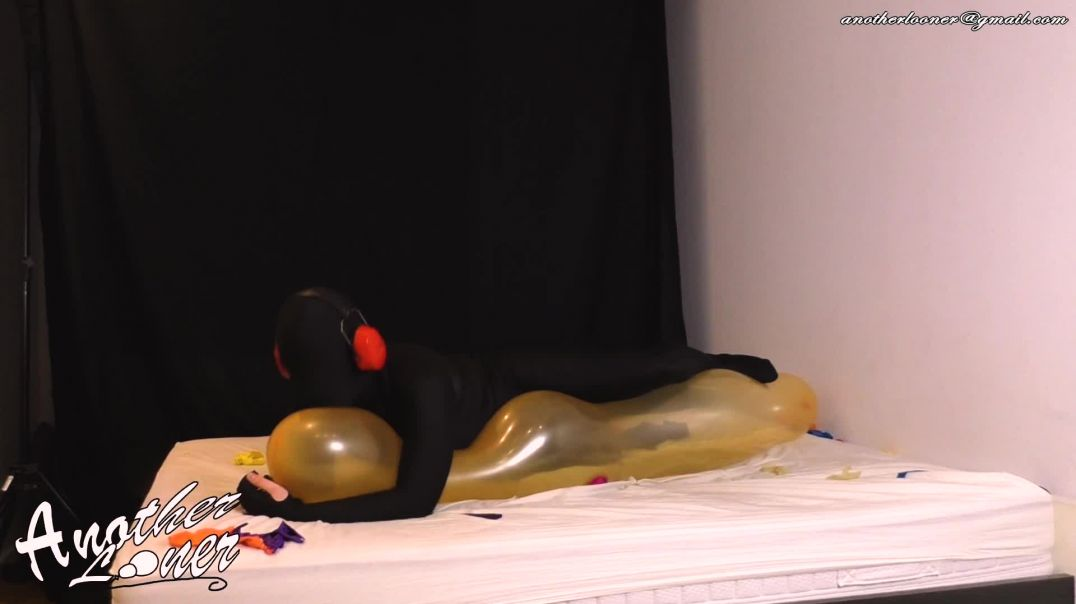Inflated Elephant Balloon Loving, Stretching, Folding & Popping (Ses 34, Vid 6)