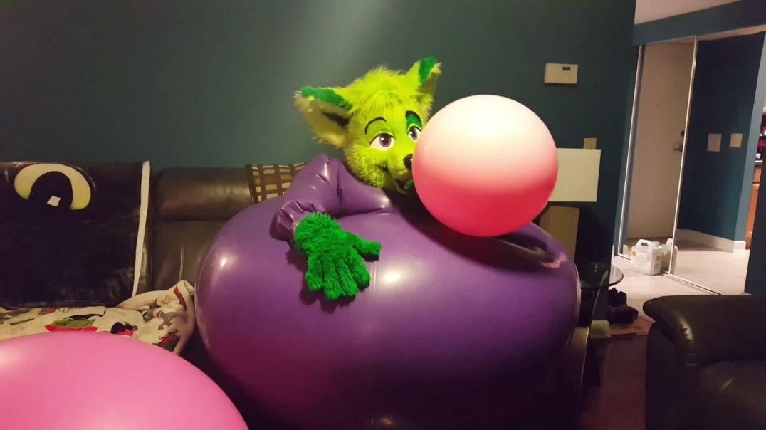 Purple Dress w 6ft Balloon