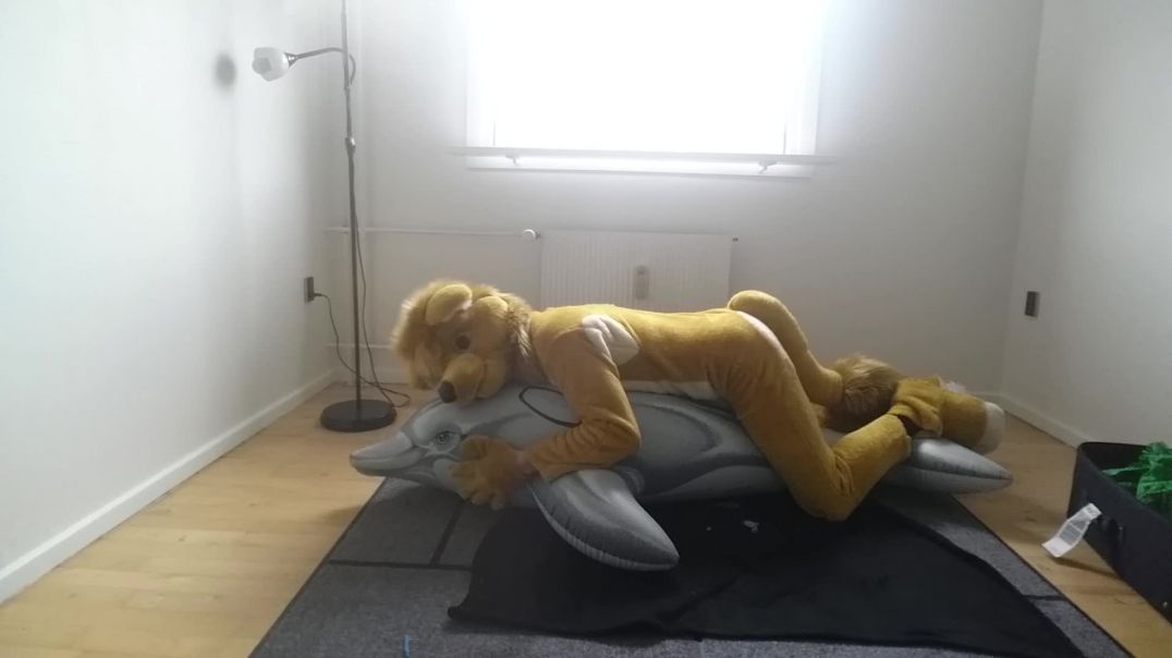 dolphin-ride in tight fursuit