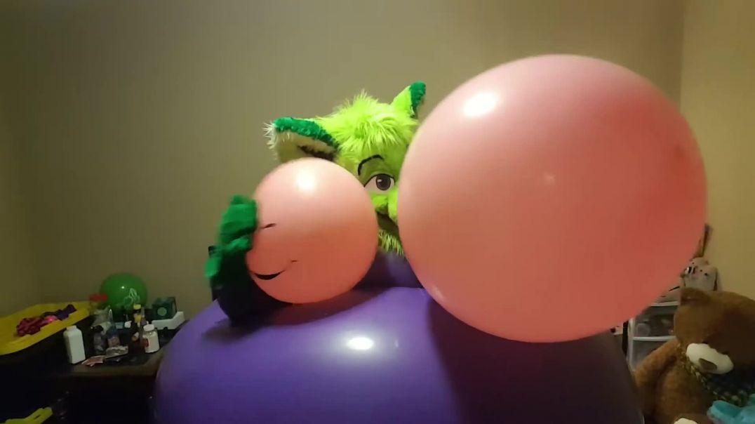 Purple Dress/Pink Balloon