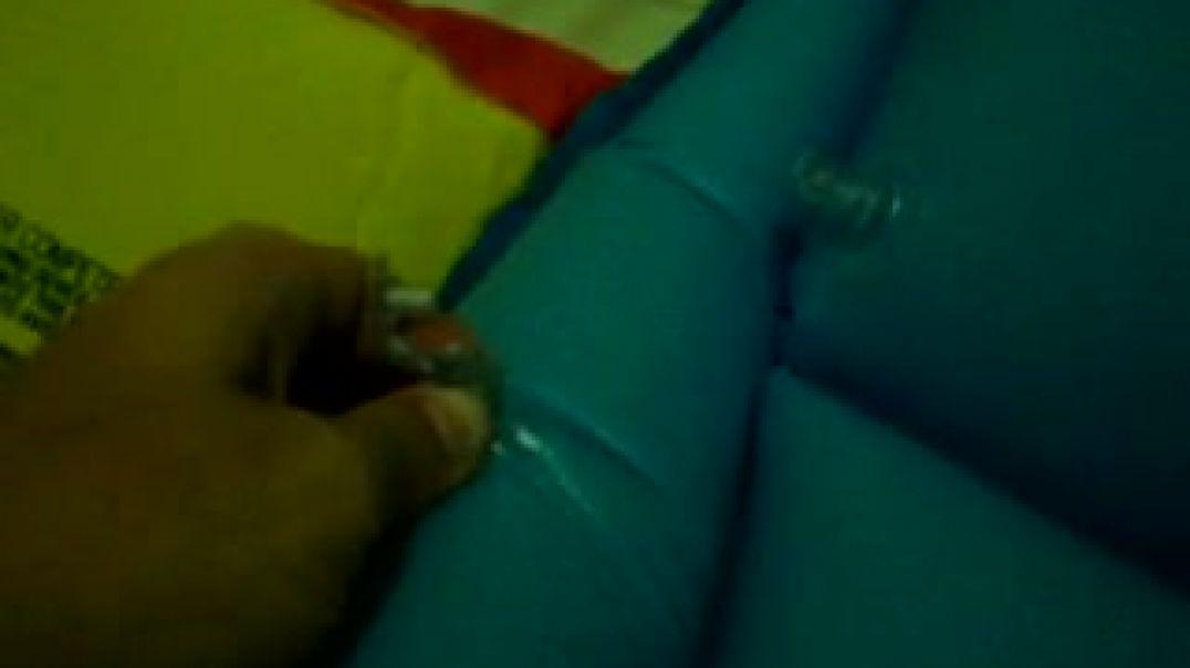 Deflating blu air mattress