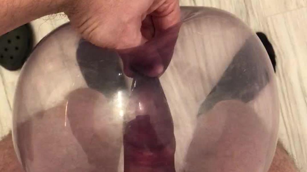 Fucking purple condom balloon