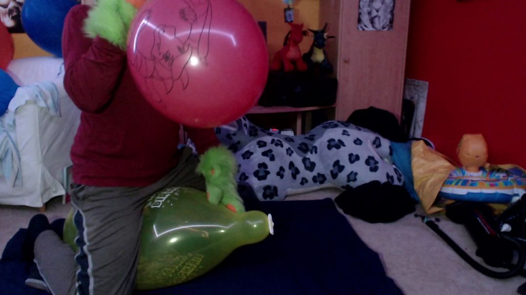 Balloon blow, ride & accidental pop