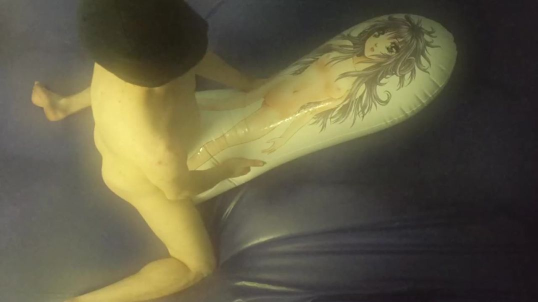 fucking asuka love pillow on waterbed 2
