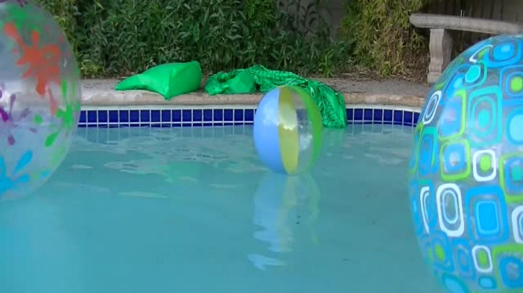 Pool Pop Balls with Knife
