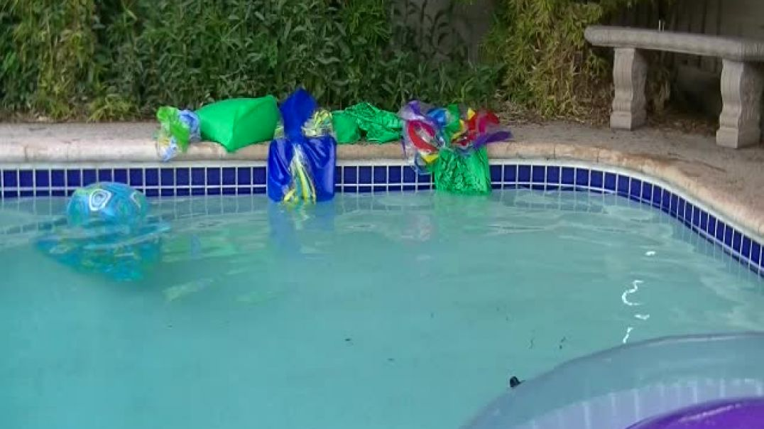 Popping Mylars in the pool