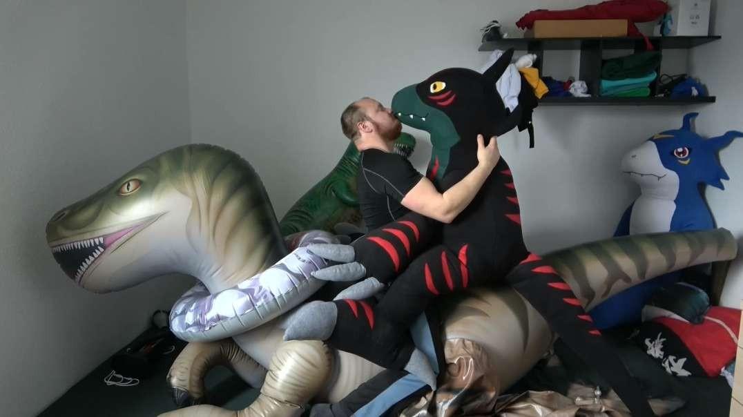 Eyron and me deflate the huge Raptor