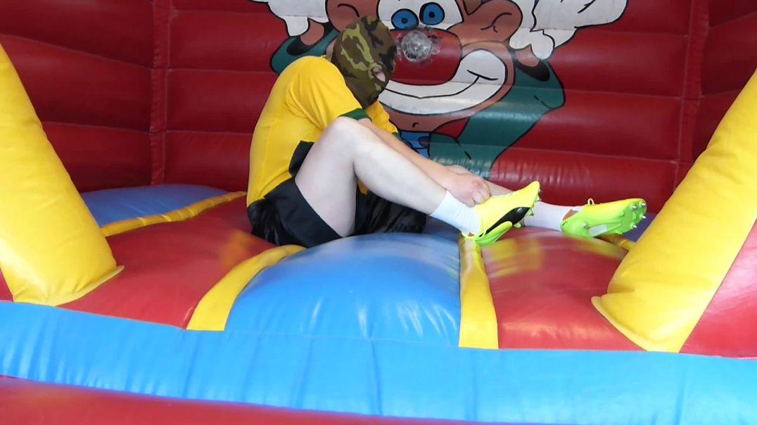 Soccer Shoes vs Bouncy Castle