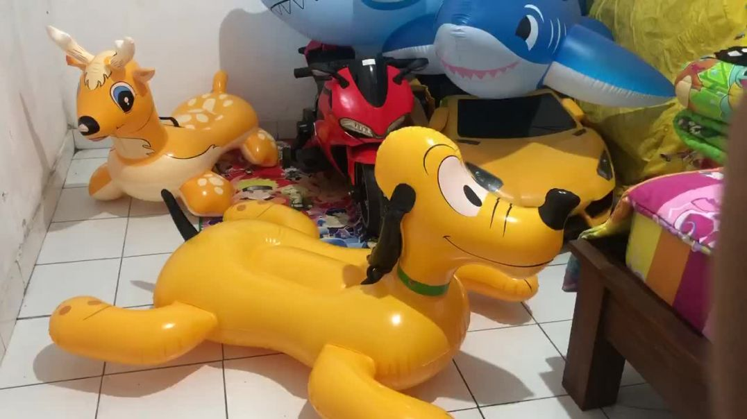 Inflatable dog stomp