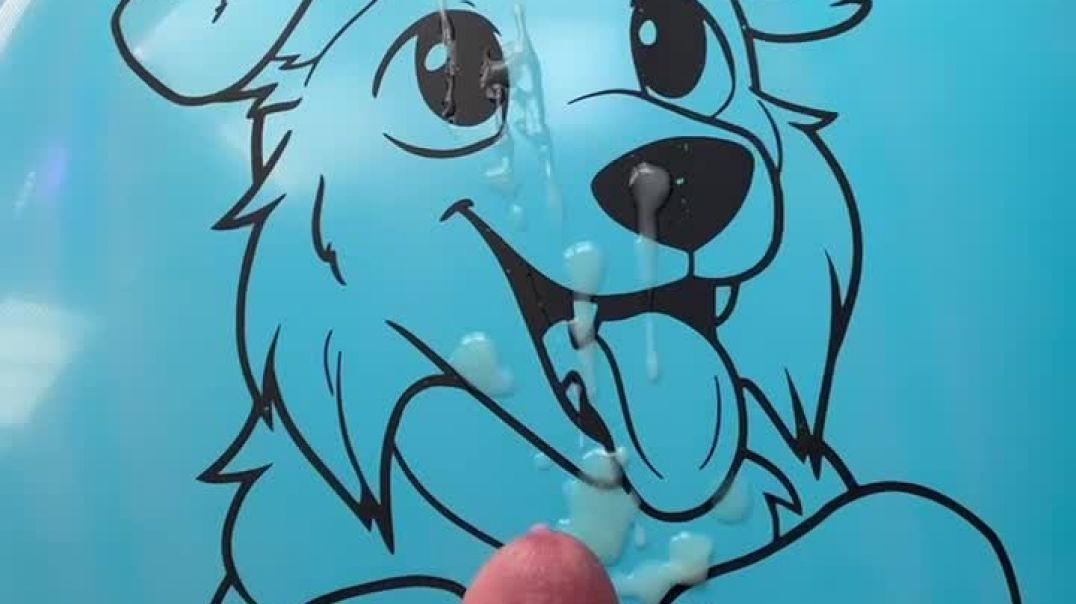 Blue Dog Balloon Facial
