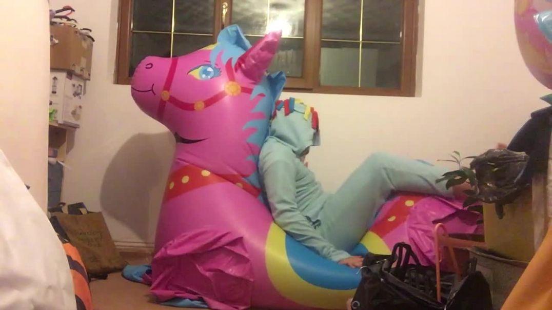 Inflatable Pony Deflation Ride + Valve Play