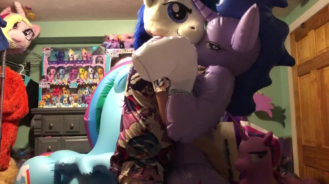 Shining Armor with sexy Twily inflatable