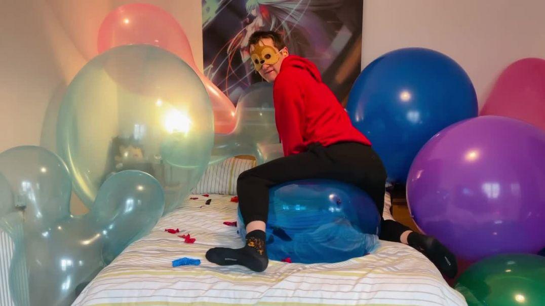 Busting balloons
