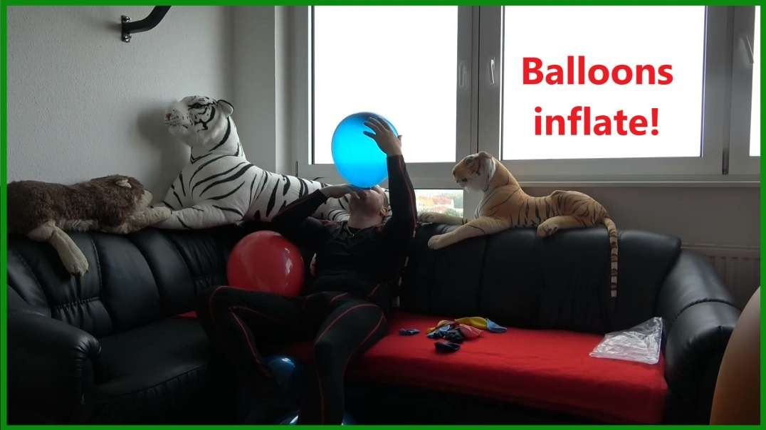 Vectis blowing up balloons