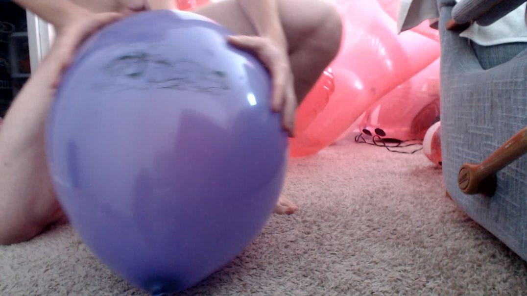 Purple deer balloon ride
