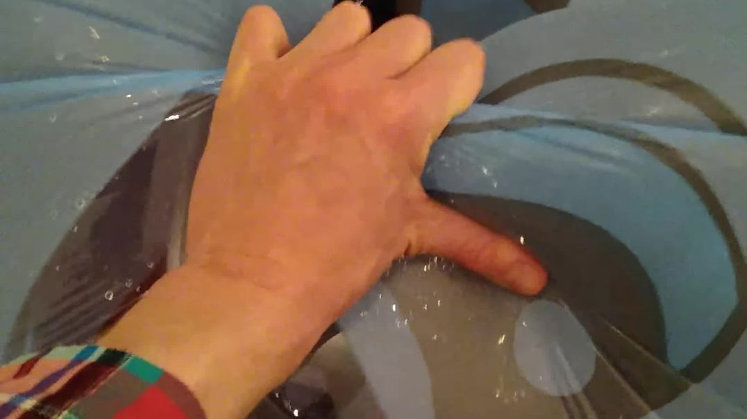 Squeeze to pop stretched whale