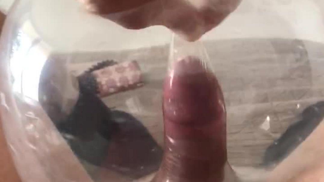 Safely fucking a condom balloon
