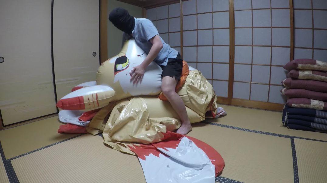 Ride on the inflatable Yogi